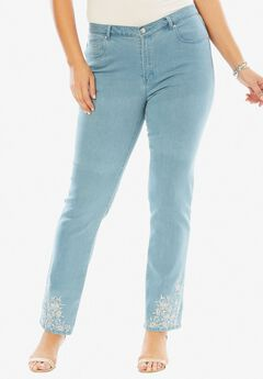 Embroidered Tapered Jean,