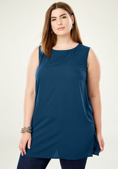 Relaxed Tunic Tank, TWILIGHT TEAL