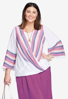 Drape High-Low Blouse,