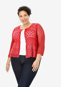 Crochet Sweater, SOFT GERANIUM