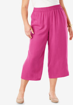 Tencel® Capri Pant, BRIGHT BERRY