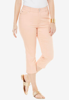 Tummy-Control Denim Capris,
