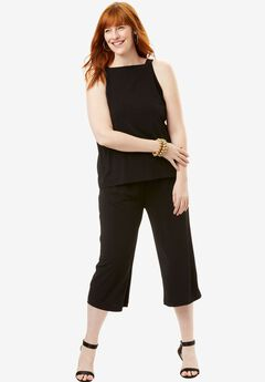 Square Neck Jumpsuit,