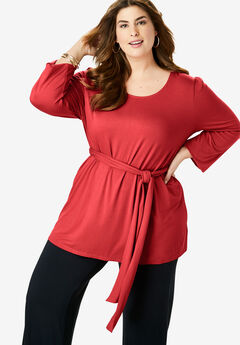 Belted Knit Tunic,