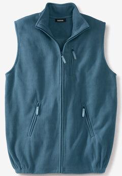 Fleece Zip Vest, INDIGO