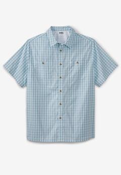 Short-Sleeve Printed Sport Shirt,