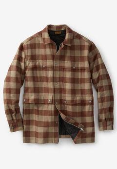 Renegade Shirt Jacket by Boulder Creek®, DARK KHAKI CHECK