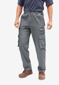 Boulder Creek® Side-Elastic Stacked Cargo Pocket Pants,