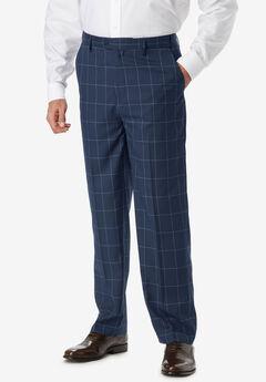 KS Signature Easy Movement® Plain Front Expandable Suit Separate Dress Pants,