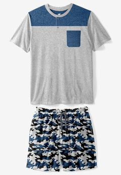 Hanes® Jersey Sleep Tee/Short Set,
