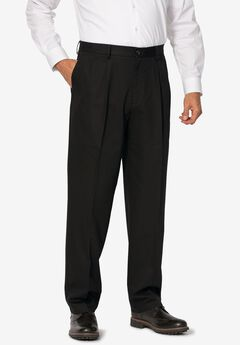 Signature Lux Pleat Front Khakis by Dockers®, BLACK