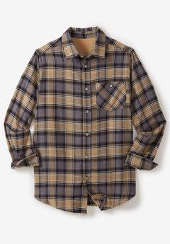 Flannel Shirt by Boulder Creek®, STEEL PLAID