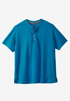 Heavyweight Short-Sleeve Henley Shirt by Boulder Creek®,