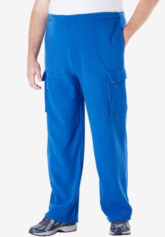 Fleece Cargo Pants, ROYAL BLUE