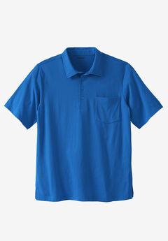 Lightweight Pocket Golf Polo Shirt, ROYAL BLUE