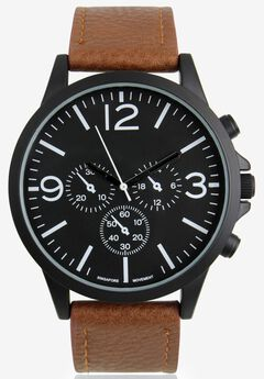 Modern Faux Leather Watch,