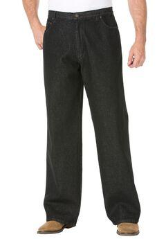 Side-Elastic Wide Leg 5 Pocket Jeans by Liberty Blues®,