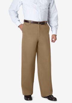 WRINKLE-FREE PANTS WITH EXPANDABLE WAIST, WIDE LEG,