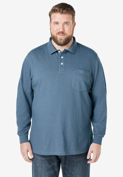 Long-sleeve Piqué Polo,