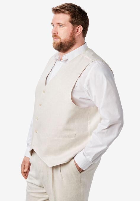 ff3b481b5f2 Linen Blend 5 Button Suit Vest by KS Island™