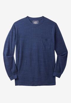 Liberty Blues® Crewneck Long-Sleeve T-Shirt, INDIGO MARL
