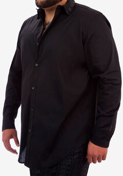 MVP Collections® Solid Spiked Collar Shirt,
