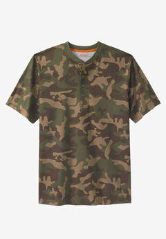 Heavyweight Short-Sleeve Henley Shirt by Boulder Creek®,