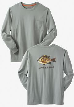 Off-Shore Long-Sleeve Screenprint Tee by Boulder Creek®,