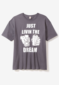 Drink Graphic Tee, LIVING THE DREAM