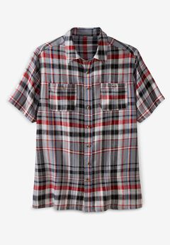 Short-Sleeve Linen Shirt,