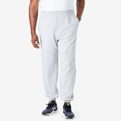 Fleece Elastic Cuff Sweatpants, HEATHER GREY