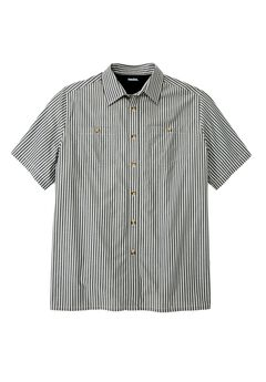 Short Sleeve Striped Shirt,