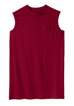 Longer-Length Shrink-Less™ Lightweight Muscle Tee,