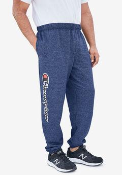 Fleece Logo Pants by Champion®, NAVY MARL