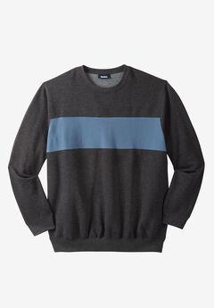 Colorblock Stripe Fleece Sweatshirt,