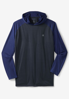 Lightweight Colorblock Performance Hoodie by Champion®, NAVY ROYAL