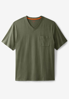 Boulder Creek® Heavyweight Pocket V-Neck Tee,