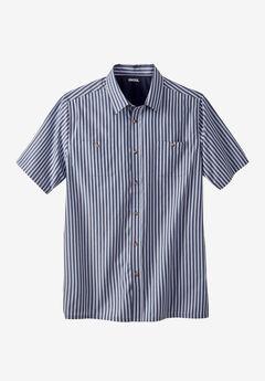Short Sleeve Striped Shirt,