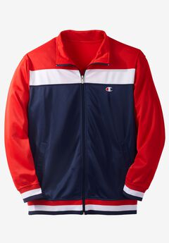 Velour Colorblocked Track Jacket by Champion®,