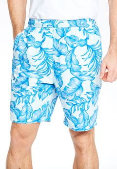 Basic Leaf Print Swim Trunks by KS Island™,