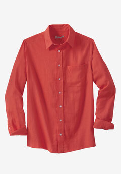 KS Island™ Linen Blend Dress Shirt, MELON