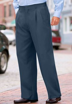 Easy-Care Plain Front Expandable Dress Pants by KS Signature,
