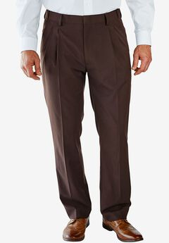 No Hassle® Classic Fit Expandable Waist Double-Pleat Dress Pants by KS Signature,