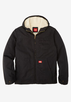 Sanded Duck Sherpa-Lined Hoodie by Dickies®,