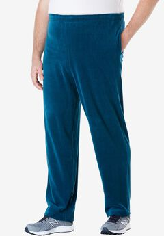 Velour Open Bottom Pants,