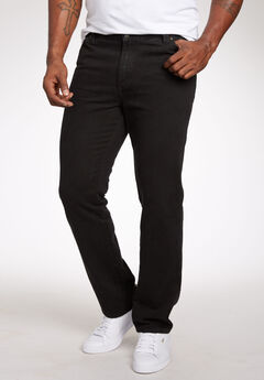 Liberty Blues® Straight-Fit Side Elastic 5-Pocket Jeans,