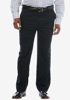 Easy-Care Modern Fit Expandable Waist Plain Front Dress Pants,
