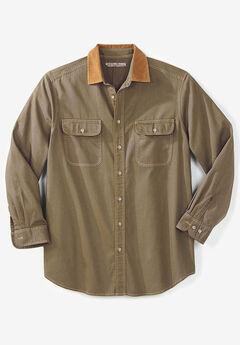 Long Sleeve Corduroy Collar Renegade Shirt by Boulder Creek®,