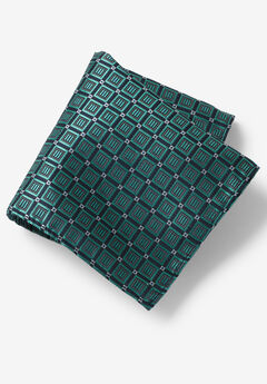 KS Signature Pocket Square, TIDAL GREEN GEO