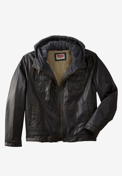 Faux Leather Trucker Jacket by Levis®,